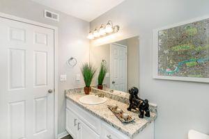 Sleek bathrooms at Graymere in Columbia, TN