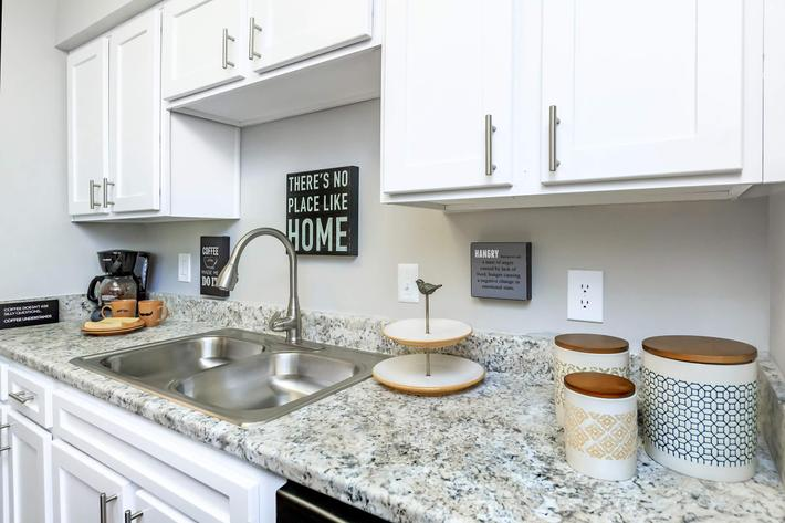 Stunning countertops at Graymere in Columbia, Tennessee