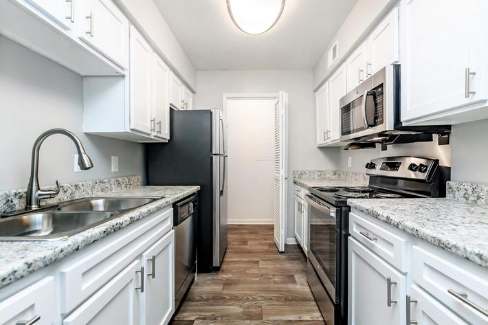 Fully-equipped kitchens at Graymere in Columbia, TN