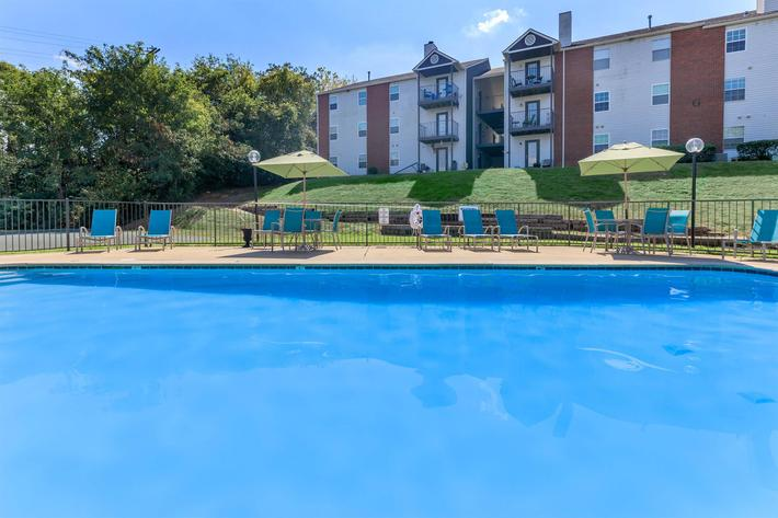 Catch some rays pool side here at Graymere in Columbia, Tennessee