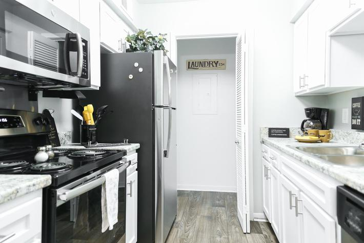 Fully-equipped kitchens at Graymere in Columbia, Tennessee