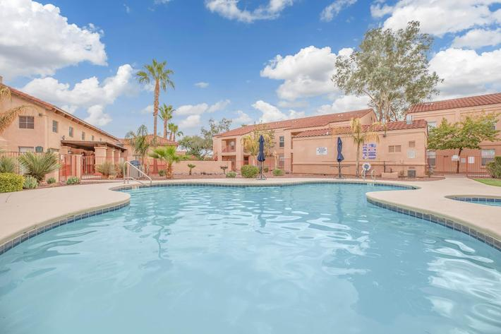 Relax beside our shimmering swimming pool in Tucson, AZ