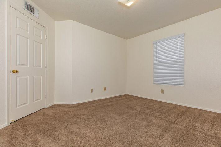 Enjoy plush carpeting in two bedroom apartment at La Posada