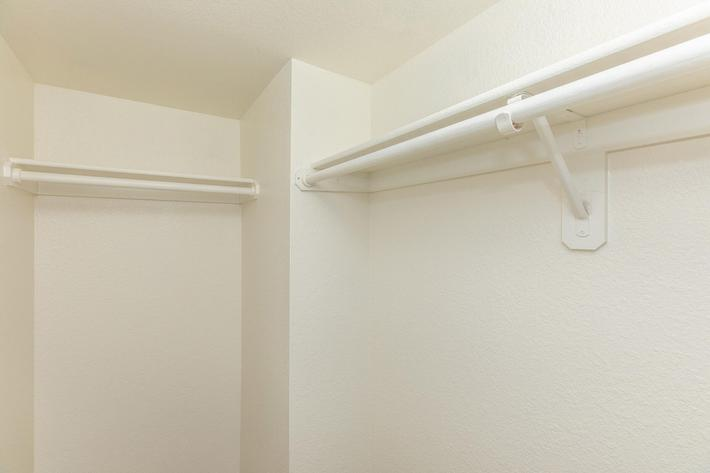 Walk-in closets in three bedroom apartment for rent