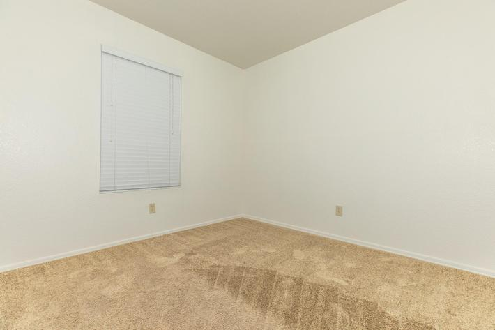 Plush carpeting in three bedroom apartment for rent at La Posada