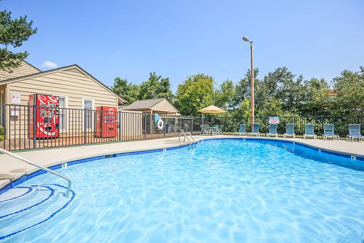 The Shimmering Swimming Pool at Papermill Square Apartments