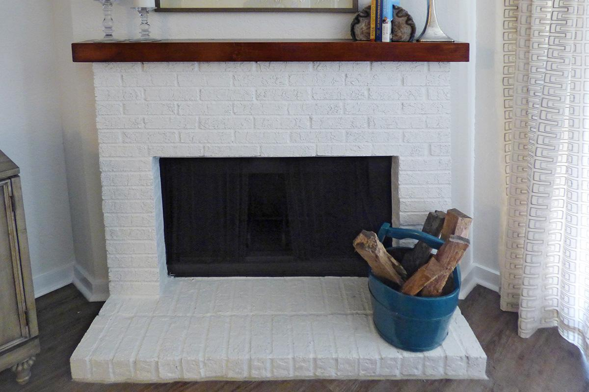 Fireplace in the Chelsea Floor Plan at The Knolls