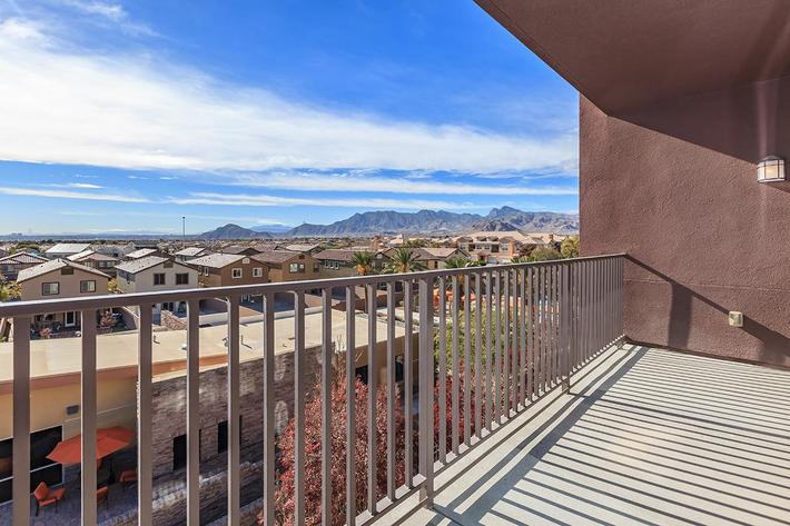OVERSIZED BALCONIES AND PATIOS WITH BREATHTAKING VIEWS AT ECHELON AT CENTENNIAL HILLS IN LAS VEGAS