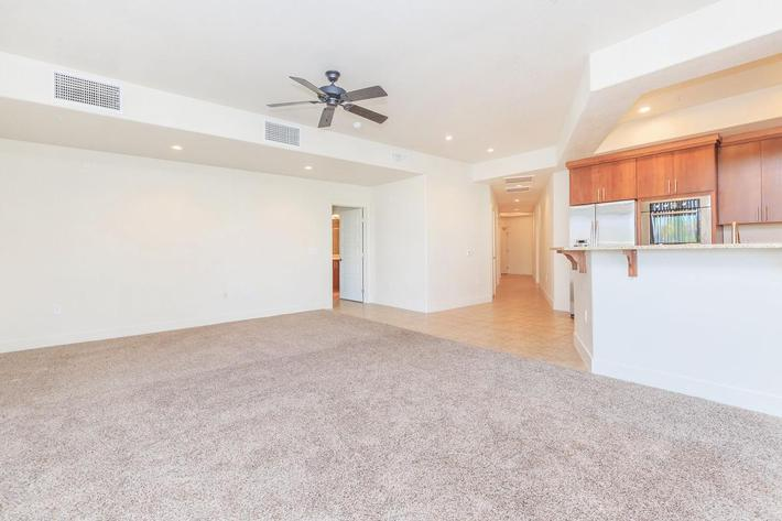 ECHELON AT CENTENNIAL HILLS IN LAS VEGAS HAS CARPETED FLOORS AND CEILING FANS