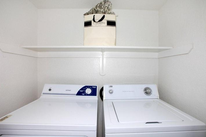 Washer-dryer are included at Papillon
