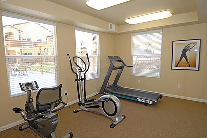 You will like the cardio room at Villa Siena Apartments