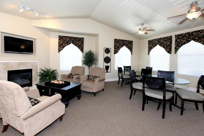 You will love the clubhouse at Villa Siena Apartments