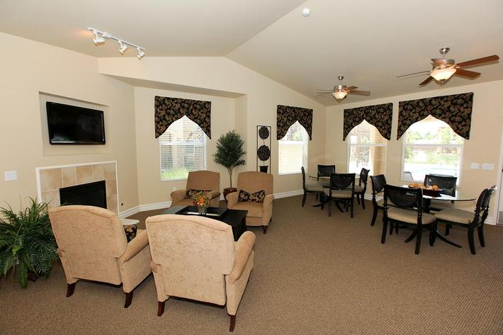 This is the common area for Villa Siena Apartments