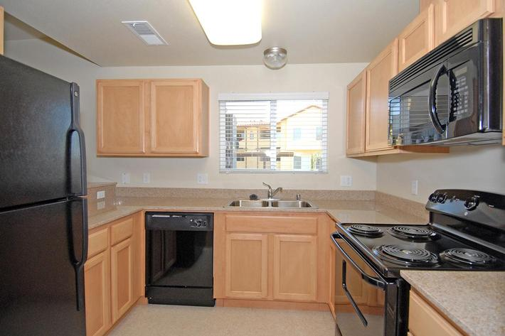 We have well planned kitchens at Villa Siena Apartments