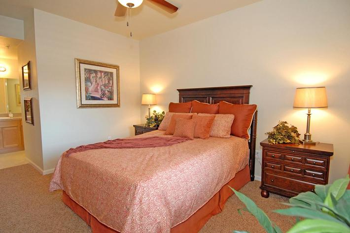 We have comfortable bedrooms at Villa Siena Apartments