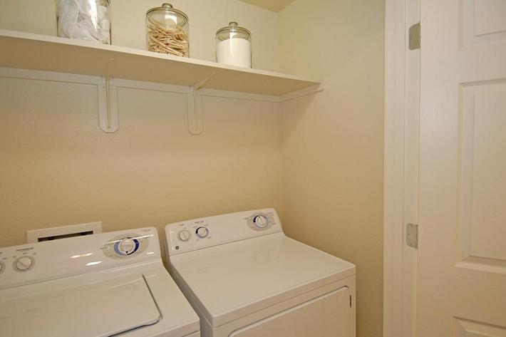 We have great in-home laundry areas at Villa Siena Apartments