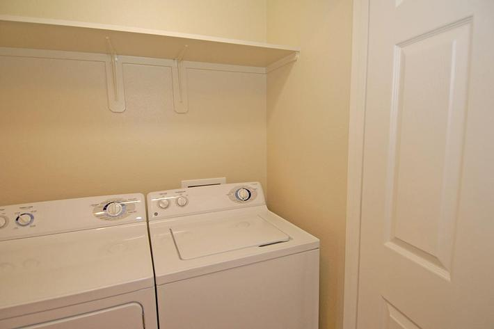 We have full size washer-dryers at Villa Siena Apartments