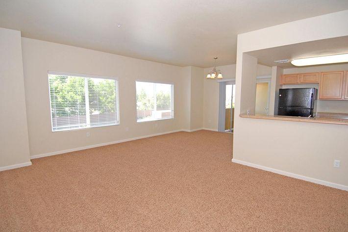 We have spacious living rooms at Villa Siena Apartments