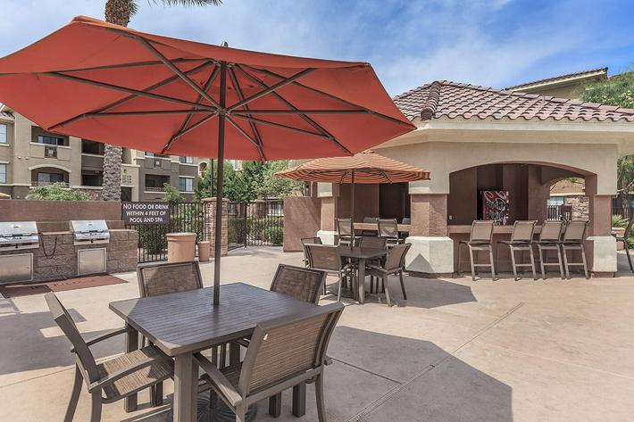 Barbecue Grills at The Preserve Apartments