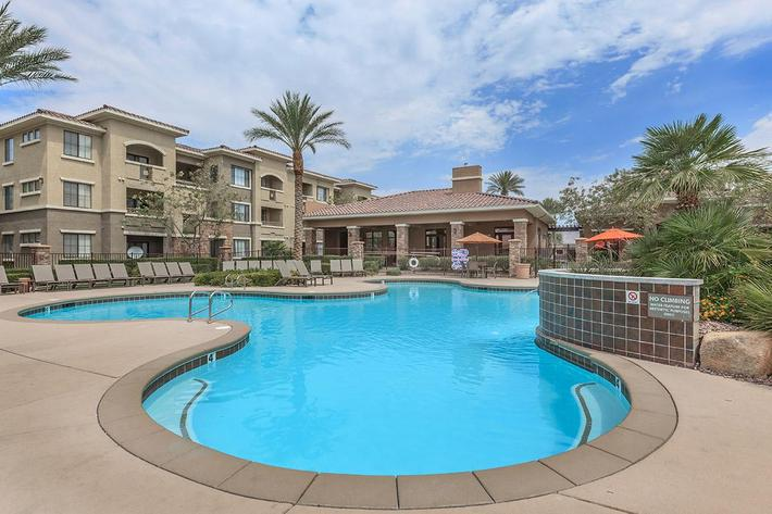 Two Shimmering Swimming Pools at The Preserve Apartments in North Las Vegas, Nevada
