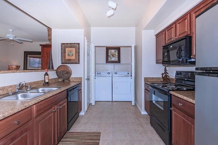All-electric Kitchens at The Preserve Apartments in North Las Vegas, Nevada