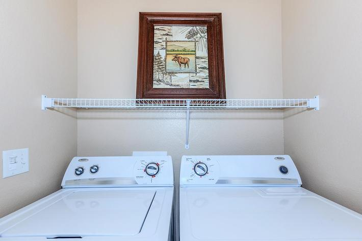 Washer and Dryer in Homes at The Preserve Apartments in North Las Vegas, Nevada