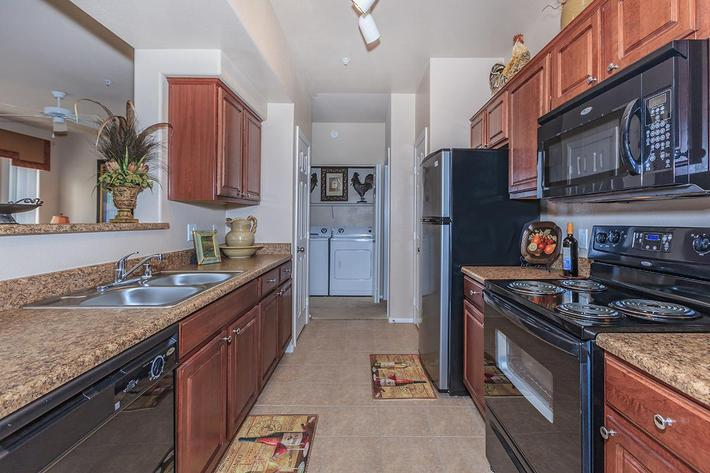 All-electric Kitchens in Homes at The Preserve Apartments