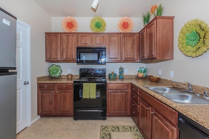All-electric Kitchens in Homes at The Preserve Apartments in North Las Vegas, Nevada