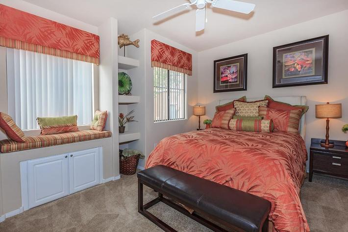 Cozy Bedrooms in Homes at The Preserve Apartments