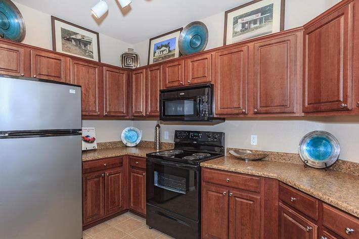 All Electric Kitchens at The Preserve Apartments in North Las Vegas, Nevada