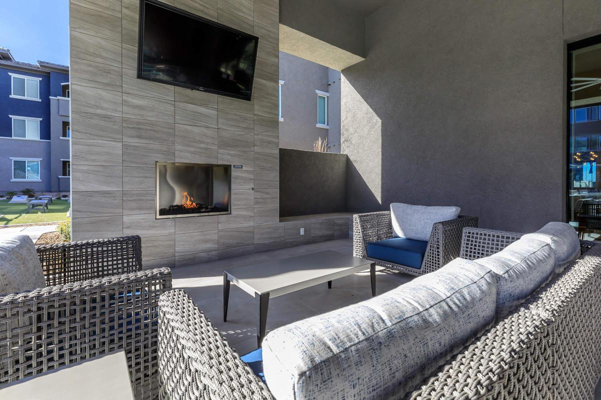 POOLSIDE LOUNGE WITH FIREPLACE
