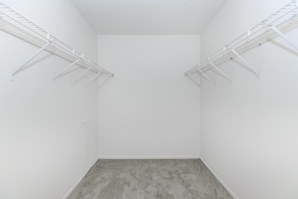 YOU WILL LOVE THE WALK-IN CLOSET AT OAKS AT HAMPTON APARTMENTS