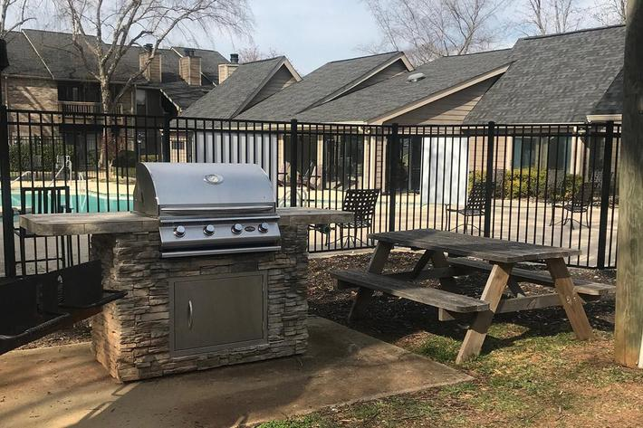 Outdoor grilling in Greenville, South Carolina.