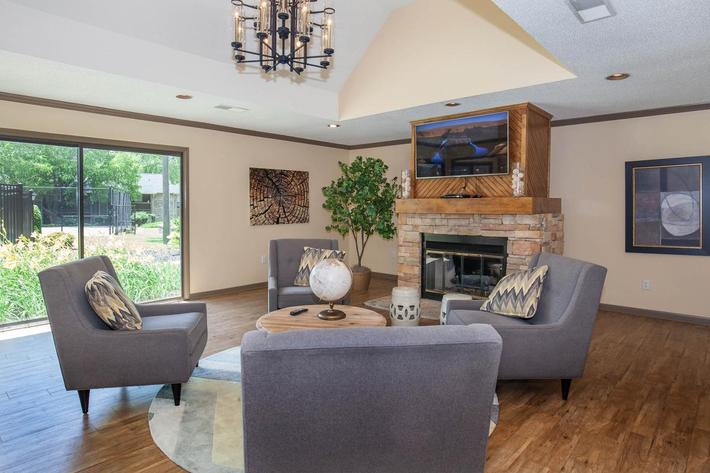 Have fun in the clubhouse at Haywood Pointe in Greenville, South Carolina.