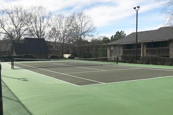 Play tennis at our tennis court at Haywood Pointe in Greenville, SC.