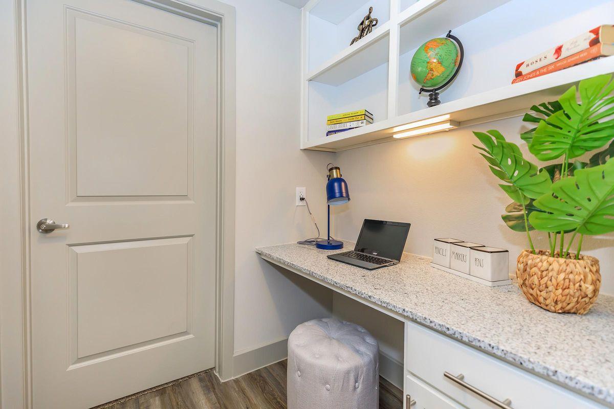 Built-in desk at Ariza Gosling in Spring, Texas