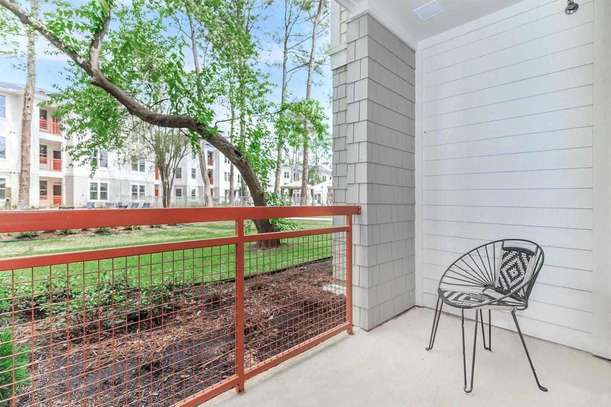 Enjoy the balcony or patio at Ariza Gosling in Spring, TX