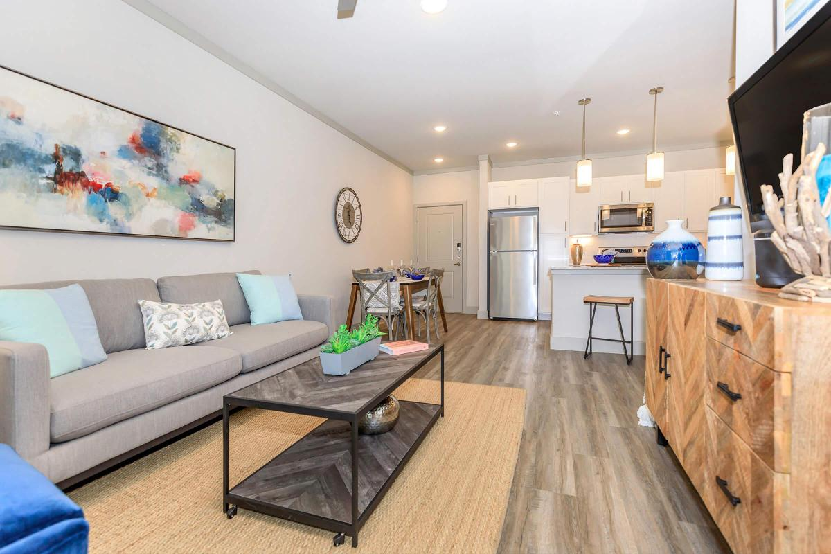 Open concept living at Ariza Gosling in Spring, TX
