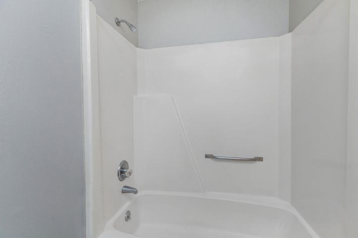 comfortable and convenient tub and shower combo