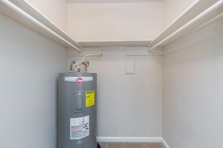 easy access to water heater at Eagle Crest at Wallace in Clarksville, Tennessee