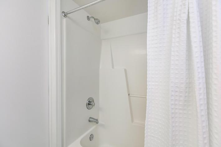 Modern bathrooms at Windsor Place in Jacksonville, North Carolina.