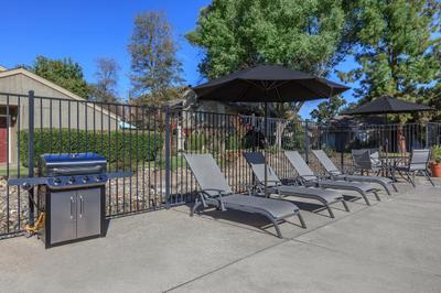 This is the grilling area at Cobblestone Village