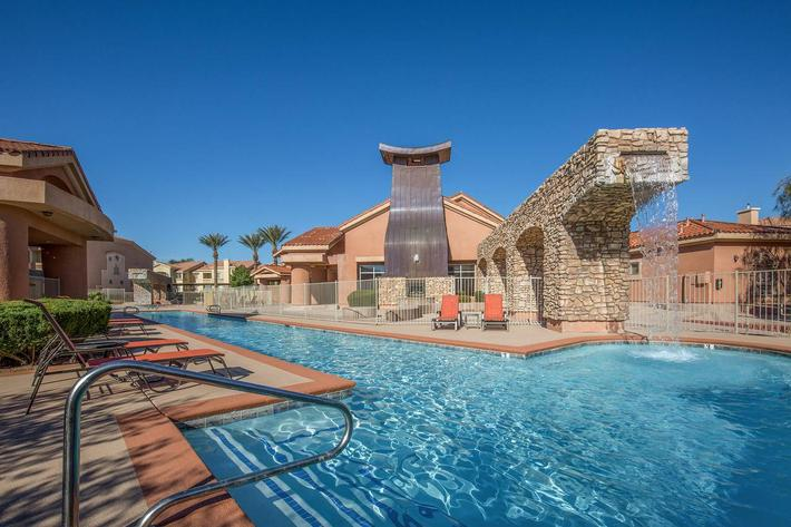 CATCH SOME RAYS IN THE POOL AT CORONADO BAY CLUB IN LAS VEGAS