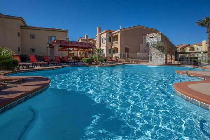 TAKE A DIP IN THE POOL AT CORONADO BAY CLUB IN LAS VEGAS
