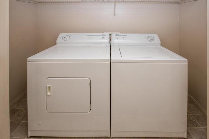 WASHER AND DRYER IN HOMES AT CORONADO BAY CLUB IN LAS VEGAS