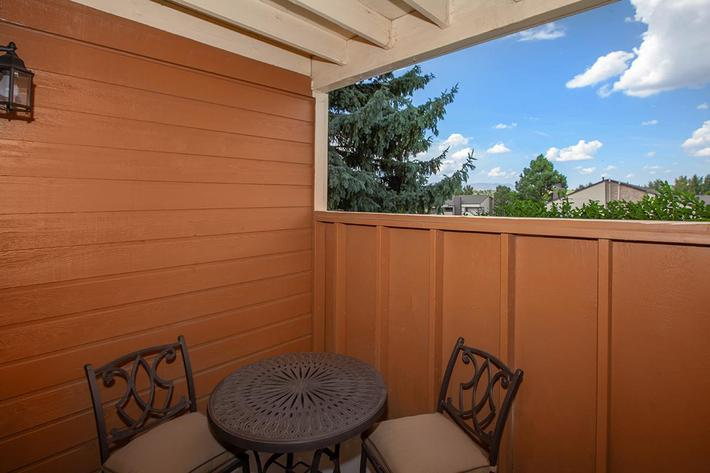 RELAX ON YOUR BALCONY OR PATIO IN COLORADO SPRINGS, CO
