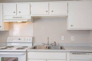 Bright white themed kitchen