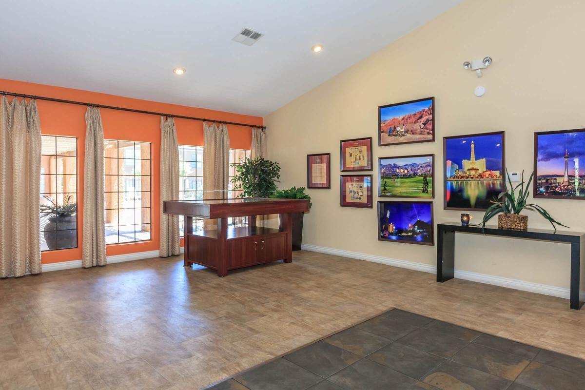 EVERYTHING WITHIN REACH IN THE CLUBHOUSE AT CANYON CREEK VILLAS IN LAS VEGAS, NEVADA