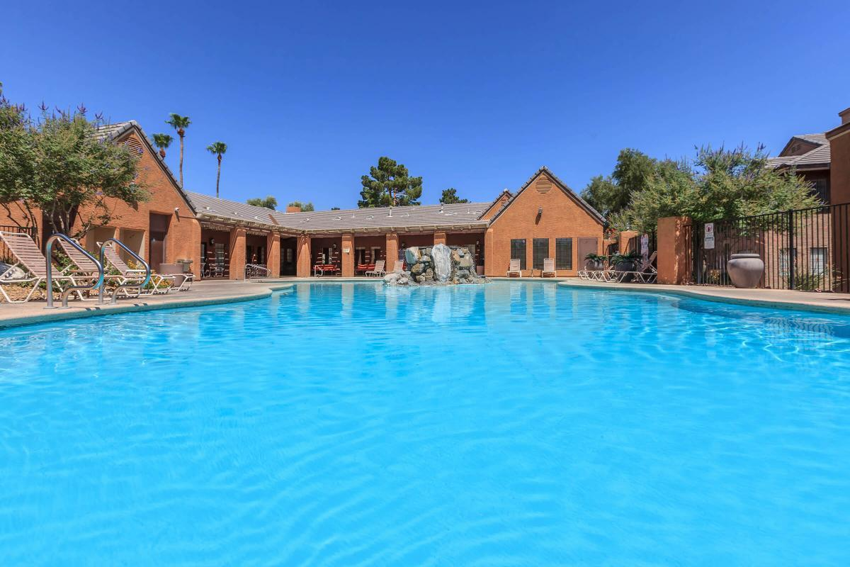 TAKE A SWIM IN OUR SHIMMERING SWIMMING POOL AT CANYON CREEK VILLA IN LAS VEGAS, NEVADA