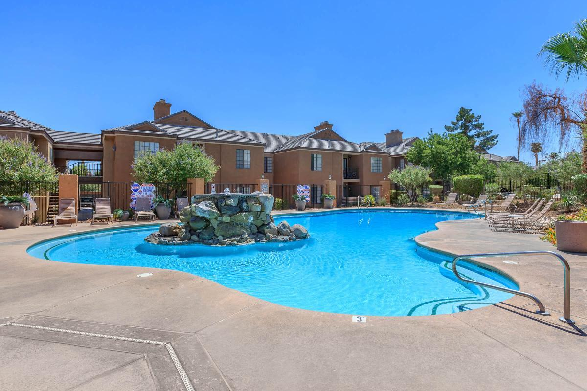 THIS IS THE POOL AT CANYON CREEK VILLAS IN LAS VEGAS, NEVADA